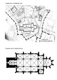 Lageplan der St. Paulikirche Soest Grundriss der St. Paulikirche Soest