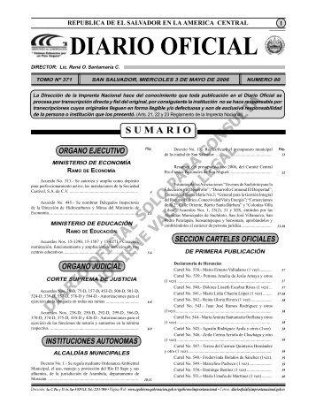 diario 3 mayo.indd - Diario Oficial de la República de El Salvador