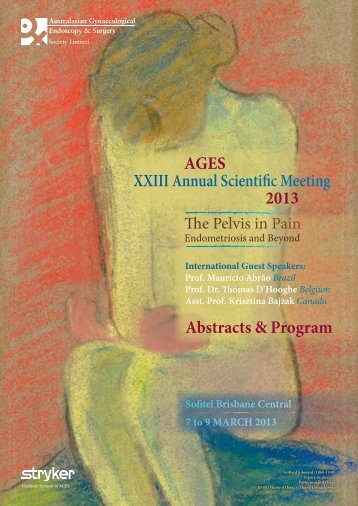 AGES XXIII Annual Scientific Meeting 2013 Abstracts & Program
