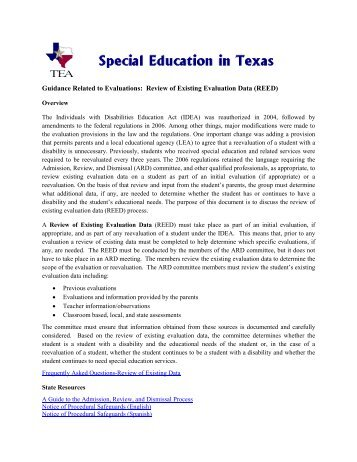 REED Guidance-Final.pdf - ESC2 Special Education