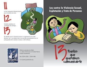 Ley contra la Violencia Sexual, Explotación y Trata de ... - Pami