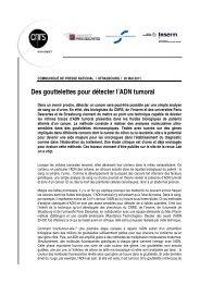 Voir le communiqué de presse - CNRS Alsace