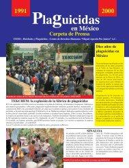 Carpeta de Prensa - Huicholes y Plaguicidas