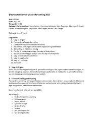 Referat fra generalforsamling d. 28 marts 2012 - Ølstykke Tennisklub