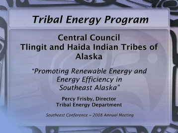 Frisby: Tribal Energy Program - Southeast Conference