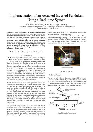 Implementation of an Actuated Inverted Pendulum Using a Real ...