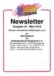 Ausgabe 24 März 2010 - Fachschaft Leichtathletik Wuppertal
