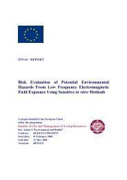 Risk Evaluation of Potential Environmental Hazards From ... - spini.ch