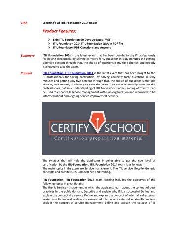 Questions & pdf itil v3 exam answers prep explanations