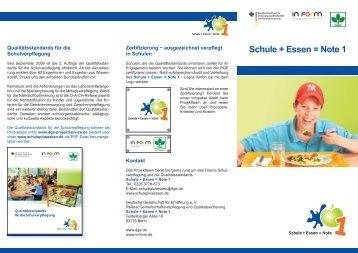 Schule + Essen = Note 1