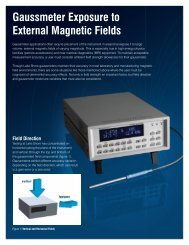 Gaussmeter Exposure to External Magnetic Fields - Lake Shore ...