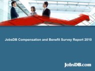 JobsDB Compensation and Benefit Survey Report 2010