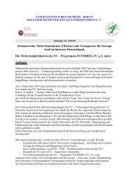 Seminarreihe: Mehr Demokratie, Effizienz und Transparenz für ...