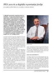 IPEX 2010 és a digitális nyomtatás jövője - mgonline