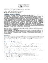 School Tour Info & Inquiry Form - Jupiter Inlet Lighthouse and Museum