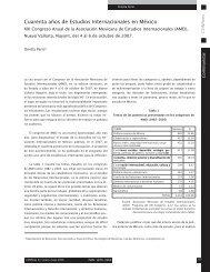 Cuarenta años de Estudios Internacionales en México - Revista ...