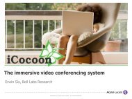 The immersive video conferencing system - bell labs belgium