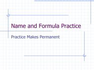 Name and Formula Practice