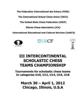 iii intercontinental scholastic chess teams championship