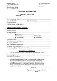 Demande d'inscription des Rochelles - Dreux.com