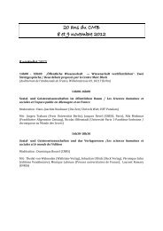 20 ans du CMB 8 et 9 novembre 2012 - Centre Marc Bloch ...