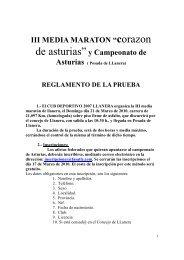 """III MEDIA MARATON """"corazon de asturias""""y Campeonato de"""