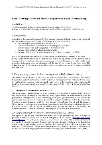 Early Warning Systems for Flood Management ... - Afghanlivelihoods