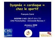 Dyspnée - Club des Cardiologues du Sport