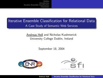 Iterative Ensemble Classification for Relational Data ... - Andreas Hess