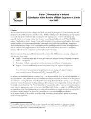 Submission to the Review of Rent Supplement Limits - April 2013
