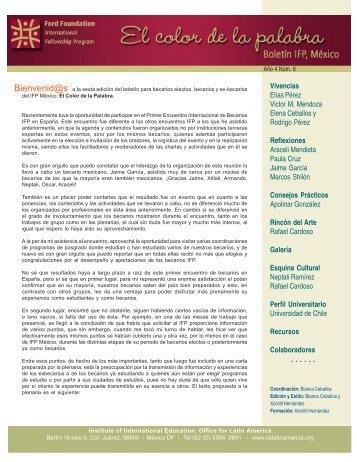 No. 6 - Programa Internacional de Becas de Posgrado - Ciesas