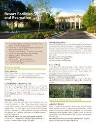 Resort Facilities and Recreation - Hockley Valley Resort