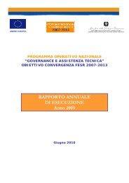 Rapporto Annuale di Esecuzione - Dps - MEF