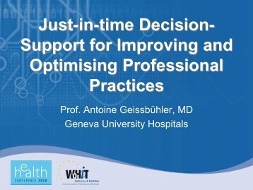 Just-in-time Decision- Support for Improving and ... - World of Health IT