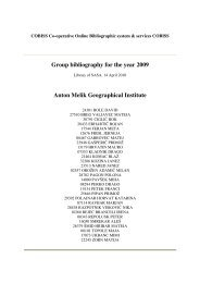 Group bibliography for the year 2009 Anton Melik Geographical ...