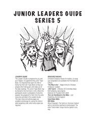 junior leaders guide series 5 - World's Christian Endeavor Union