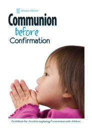 Communion before Confirmation guidelines - Diocese of Bristol