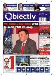 Valentin Deculescu vrea la ºefia PSD Călăra iº Valentin ... - Obiectiv