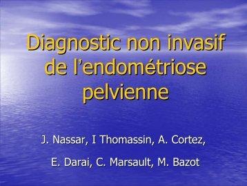 Diagnostic non invasif de l'endométriose pelvienne