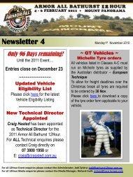 Newsletter 4 - Bathurst 12 Hour