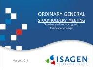 Stockholders' Meeting - Isagen
