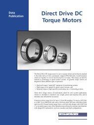 Direct Drive DC Torque Motors - Kollmorgen