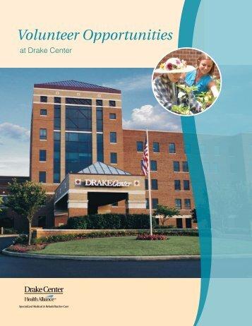 Volunteer Opportunities - Drake Center