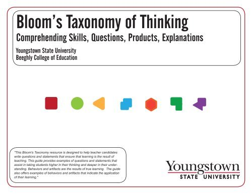 Bloom's Taxonomy of Thinking - YSU - Youngstown State University on phoenix college campus map, youngstown university campus map, michigan state university msu campus map, maine campus map, henderson state university campus map, dwu campus map, winona state university campus map, ysm campus map, connecticut college campus map, ferris state university campus map, cleveland state campus map, vsu campus map, ohio state university main campus map, university of south alabama campus map, u of i campus map, akron campus map, university of alabama football parking map, penn state campus map, su campus map, the ohio state university campus map,