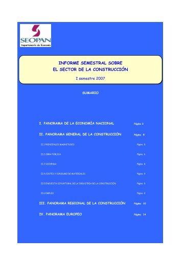 informe semestral sobre el sector de la construcción - ConcretOnline