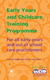 Early Years and Childcare Training Programme