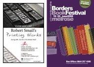 Box Office: 0844 357 1060 - Edinburgh UNESCO City of Literature