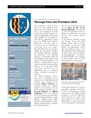 Message from the President 2010 - Academy of Dental Materials