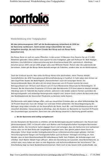 2006/10 Portfolio International - Aures
