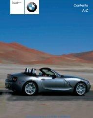 2004 Z4 3-0i Owner's Manual